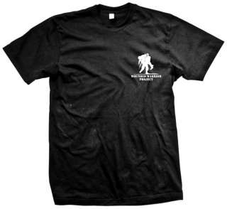 Wounded Warrior Project T Shirt Black with White Logo on Front and