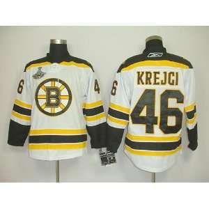 David Krejci #46 NHL Boston Bruins White Hockey Jersey