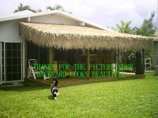 TIKI HUT PALAPA PALM GRASS FAT THATCH ROLL 30 X 59FT