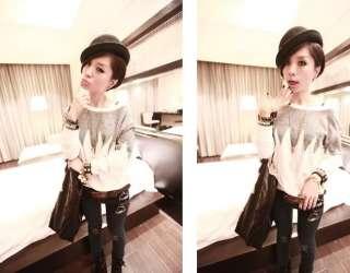 New Womens Korean Fashion Star Shinning Long Sleeve T shirt Top K304