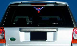 longhorn shaped Rebel Flag Sticker   confederate flags