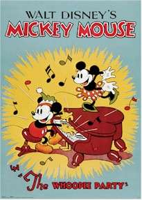 DISNEY POSTER ~ MICKEY MOUSE WHOOPEE PARTY Walt Movie