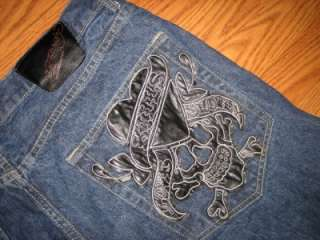 MENS ED HARDY CHRISTIAN AUDIGIER LOVE KILLS JEANS 42 34L NICE