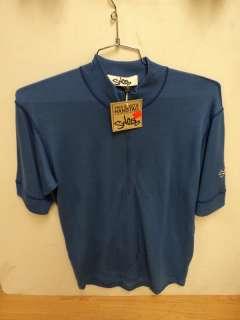 New Swobo Short Sleeve Merino Wool Mens Cycling Jersey XL Blue