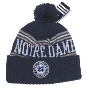 Fighting Irish NCAA Adidas Ball Top Knit Beanie Hat