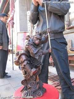 Buddhism Folk red bronze SunWuKong Monkey King Monkey God Statues