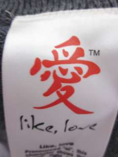 LIKE, LOVE Gray Cotton Knit Long Sweater Cardigan Sz L