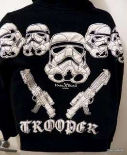 Scarce~MARC ECKO STAR WARS STORM TROOPER Jacket, Hoodie, Cut & Sew, sz