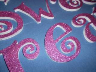 Sweet Dreams Glitter Wooden Wall Letter Set Gifts Decor Nursery