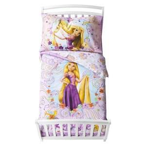 Disney Rapunzel Girls Bed 4 Piece Bedding Sheet Set