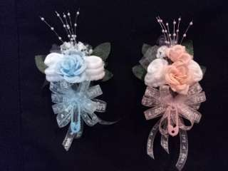 Its A Girl/Boy Baby Sock Rose Corsage Baby Shower Gift