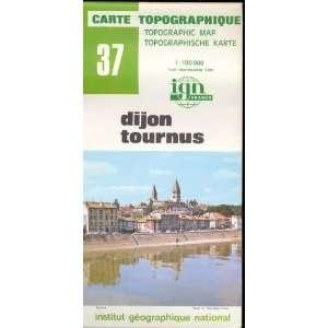 Map 37 France Dijon Tournus Carte Topographique: none: Books