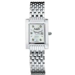 ADPi Womens Mother of Pearl Quad Watch with Diamond Dial