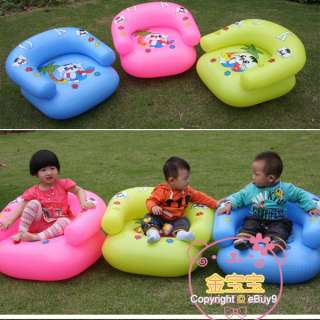 High quality Children Baby play Cartoon toy thick inflatable sofa