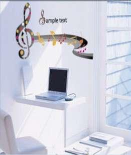 Music Note Melody Art Deco Decal Vinyl Decor Mural DIY Paper WALL