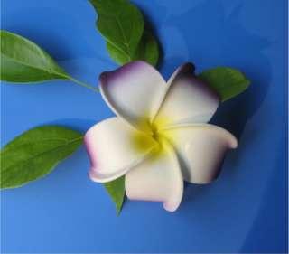 30X white Plumeria flower Hawaiian Foam Frangipani Flower wedding