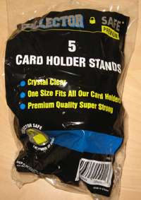 25 Collector Safe Unfoldable Clear Trading Card Stands