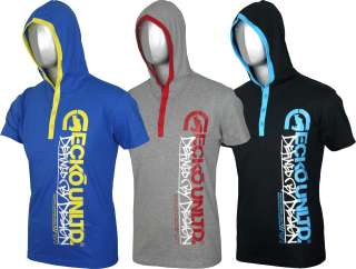 NEW MENS ECKO UNLTD SHORT SLEEVES HOODED TOP T SHIRT TE