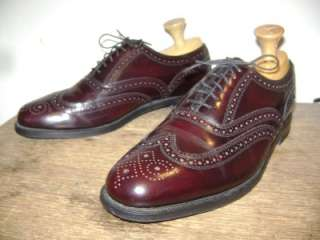FLORSHEIM MENS BURGUNDY WING IP OXFORD Shoe 9 1/2 D INDIA |