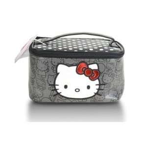 Hello Kitty Black & White Polka Dot Train Makeup Travel Case Beauty