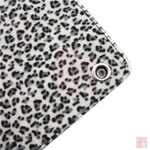 Black Leopard Leather Case Cover 3 Stand for Apple iPad 2 2nd 3G