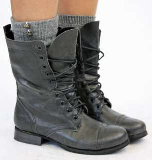 MILITARY BOOTS WOMEN ARMY LADIES LACE WORKER BOOTS SIZE
