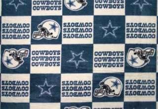 Dallas Cowboys NFL Football Print Fleece Fabric