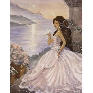 01155 Artist Signed Home Decor Giclee Painting Cinderella
