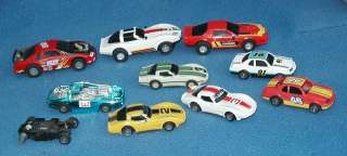 VINTAGE SLOT CARS CAR LOT CHEVY CAMARO CORVETTE 1/32 SCALE HO 9 Cars