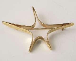 Ed Wiener 14K Gold Star Pin Brooch