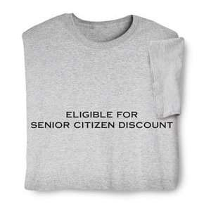 : Eligible For Senior Citizen Discount Sweatshirt: Sports & Outdoors
