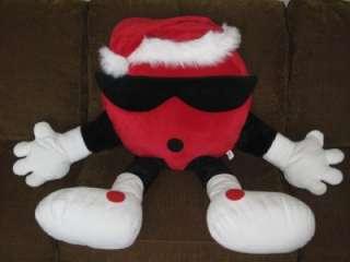 HUGE 7UP 7 UP 7 UP RARE PLUSH SPOT DOT CHRISTMAS HOLIDAY SANTA