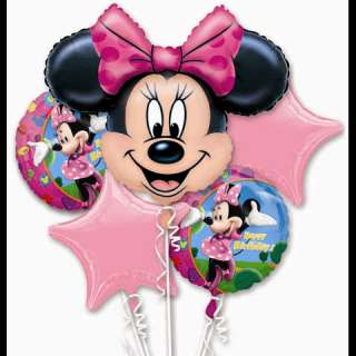 Minnie Mouse Birthday Balloon Bouquet Party kit set