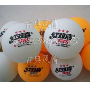 50pcs 3 Stars Ping Pong Table Tennis Balls Double Happiness training