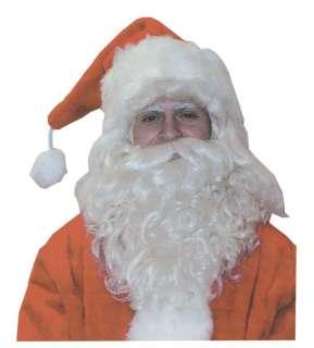 SANTA CLAUS BEARD WIG White Long Saint Nick Christmas
