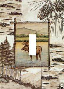 moose LIGHT SWITCH PLATE COVER cabin animal HOME DECOR new rustic