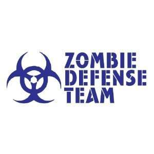 ZOMBIE DEFENSE TEAM   6 BLUE   Vinyl Decal Window Sticker Automotive