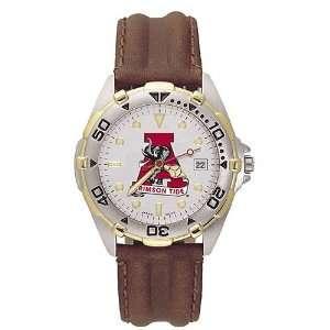 Alabama Crimson Tide Mens All Star Old Logo Watch w/Leather Band