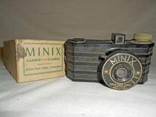 Stan Test Corp. Plastic Body Minix 35 mm Film Camera w/ Original Box