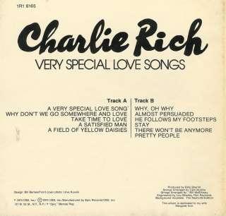 Charlie Rich Very Special Love Songs Reel To Reel Tape