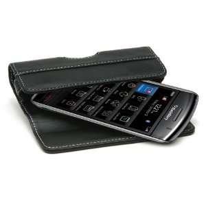 Technologys Premium Leather Horizontal Flip Case (Black) Electronics