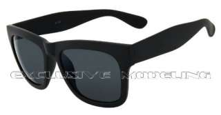 Super Cool Dark Matt Black Wayfarer Retro Sunglasses