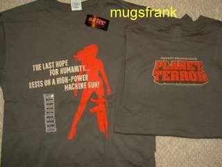Grindhouse Movie Planet Terror Machine Gun Gray T Shirt