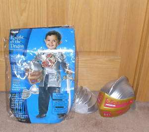 BOYS KNIGHT OF THE DRAGON HALLOWEEN COSTUME 3T 4T*AS IS