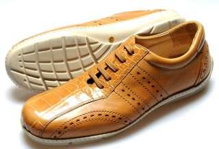 New FENNIX Brown Alligator Driving Shoes 12 NIB $995!