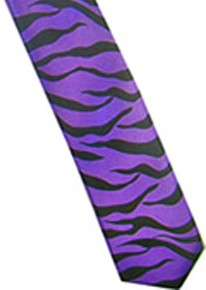 Purple Animal Print Tie Halloween Punk Rock Goth Emo