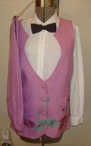 Ladies PINK Western Show Suit Pants Vest sz 10 MINTY