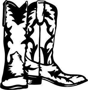 WESTERN COWBOY COWGIRL BOOTS SPURS KICKERS STICKER/DECAL CHOOSE SIZE