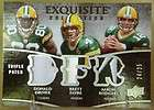 AARON RODGERS FAVRE DRIVER 2009 EXQUISITE PATCH 24/25