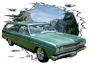 You are bidding on 1 1965 Green Chevy Chevelle Station Wagon